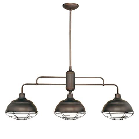 Neo- Indsutrial 3 Light Kitchen Island Light