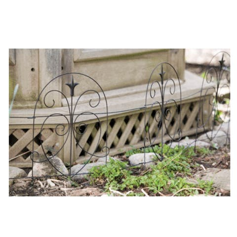 "Panacea 89379 Romantic Folding Border Fence, 18"" x 8'"