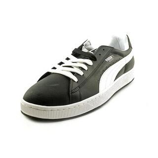 Puma Basket II Men Round Toe Leather Black Fashion Sneakers