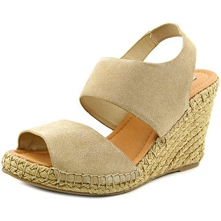 Steve Madden Scroll Open Toe Suede Wedge Heel