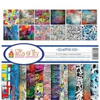 """Ella & Viv Collection Kit 12""""X12""""-Graffiti, 12 Designs/1 Each"""