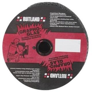 "Rutland Grapho-Glas 726 Fiberglass Stove Gasket, 1"" x 25' Rope, Black"