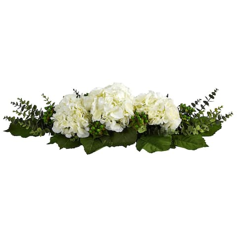 "25"" Hydrangea and Eucalyptus Artificial Arrangement"
