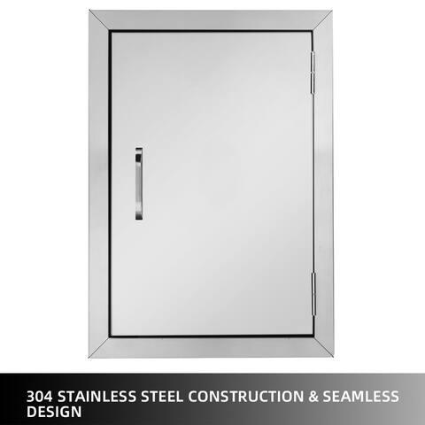 Single Door Stainless Steel 304 Cabinet Door 14 X 1.5 X 20 Inches Pipe