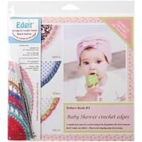 Baby Shower Crochet Edges - Edgit Piercing Crochet Hook & Book Set