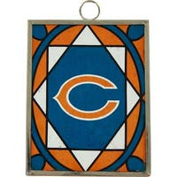 Chicago Bears Stained Glass Ornament & Sun Catcher