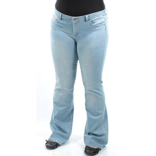TINSELTOWN $138 Womens New 1341 Blue Flare Casual Pants Juniors 13 B+B