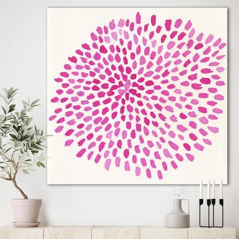 Designart 'Pink Burst' Mid-Century Modern Canvas Wall Art