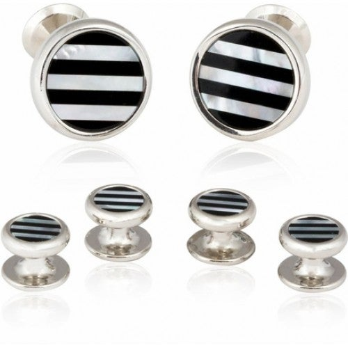 Striped Onyx Mother Of Pearl Formal Set