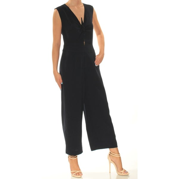 93e6bc790f32 Shop RACHEL ROY Womens Black Cut Out Sleeveless V Neck Wide Leg Jumpsuit  Size  2 - Free Shipping On Orders Over  45 - Overstock.com - 24059973