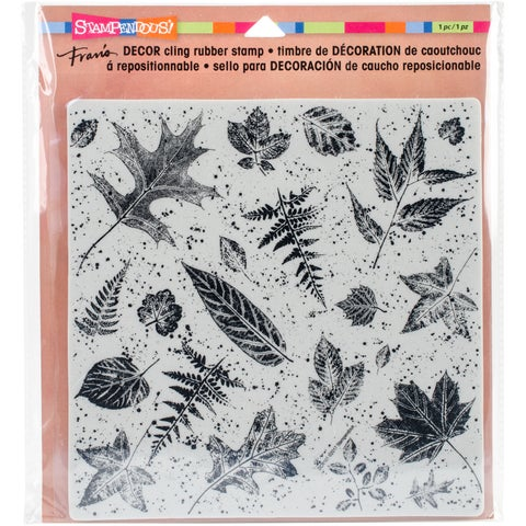 "Stampendous Decor Cling Stamp 10""X8.75""-Leaves"