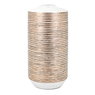 "IMAX Home 64352  Spindel 18"" Tall Ceramic Vase - Copper"