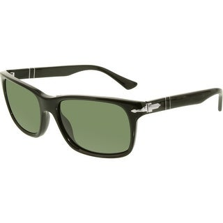 Persol Men's PO3048S-95/31-58 Black Rectangle Sunglasses