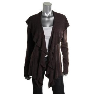 Karen Scott Womens Ribbed Knit Long Sleeves Cardigan Sweater