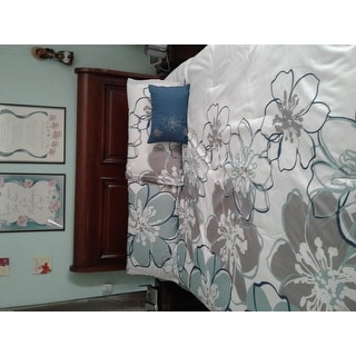 Mi Zone Skylar Blue/Grey Printed Comforter Set