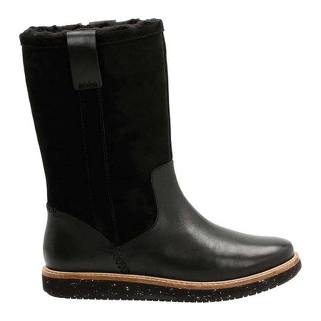 a0e4a76287 Shop Clarks Women's Glick Emfield Mid Calf Boot Black Cow Full Grain  Leather/Suede Combination - Free Shipping Today - Overstock - 14208484