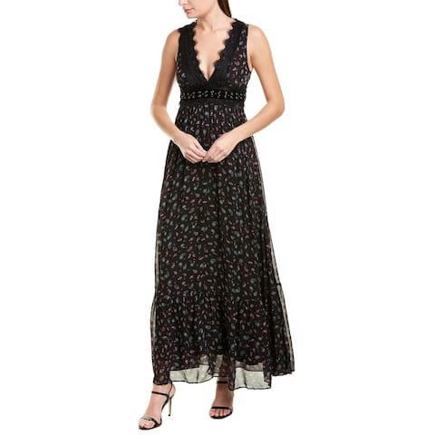 Pinko Lace-Trim Maxi Dress