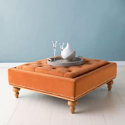 SAFAVIEH Couture Rosealina Tufted Ottoman