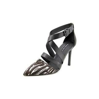 Charles David Kamila Women Pointed Toe Suede Black Slingback Heel
