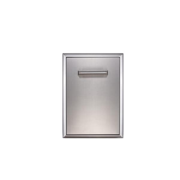 """EdgeStar E160TR1 16"""" Wide Pull Out Waste Receptacle - Stainless Steel"""