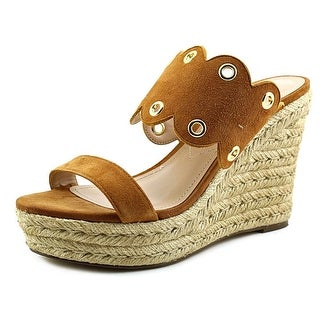 Charles By Charles David Fallon Women Open Toe Suede Wedge Sandal