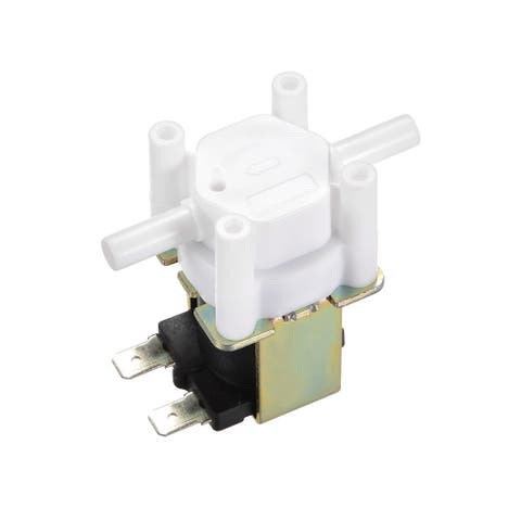 1/4-inch Barb Plastic Water Electric Solenoid Valve Water Inlet Flow Switch - DC12V,NO Pressure