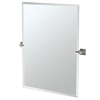 "Gatco 4079S Elevate 27-1/2"" Rectangular Beveled Wall Mounted Mirror with Satin Nickel Accents"