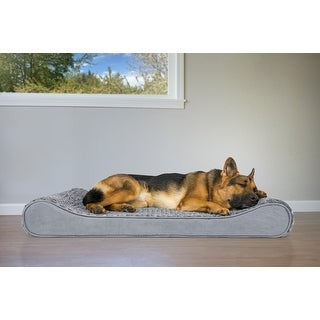 FurHaven Pet Bed   Orthopedic Ultra Plush Luxe Lounger Dog Bed
