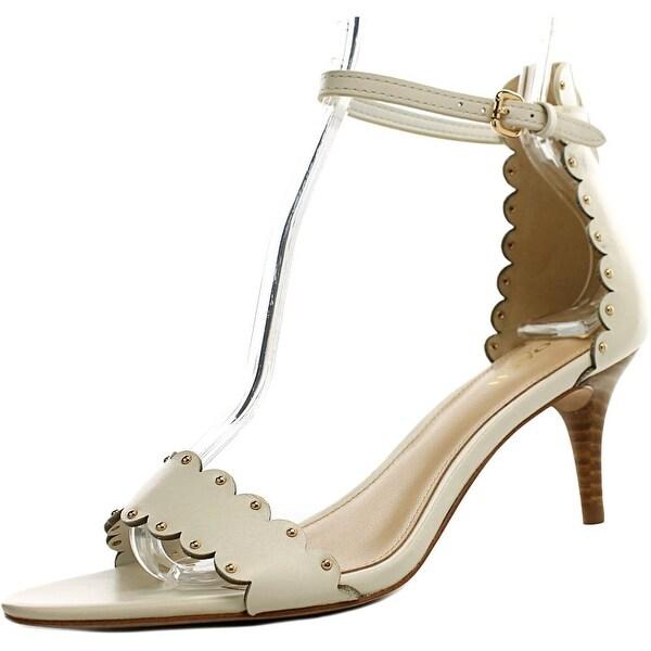 Coach Monica Women Open Toe Leather Ivory Sandals