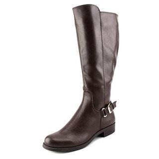 Alfani Jarabina Wide Calf Women Round Toe Synthetic Brown Knee High Boot