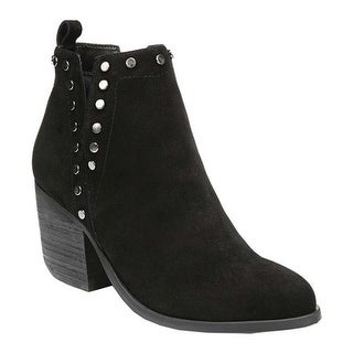 Fergie Footwear Women's Mariella Ankle Bootie Black Bally Leather
