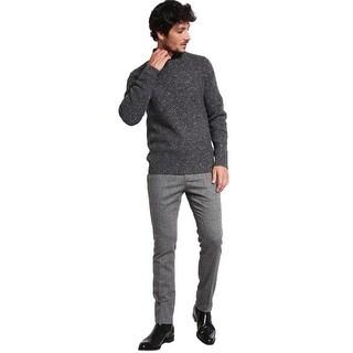 Michael Kors Speckled Knit Crewneck Sweater Charcoal Melange Medium M