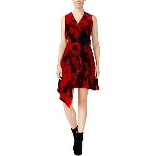 Rachel Roy Womens Cocktail Dress Draped Velvet