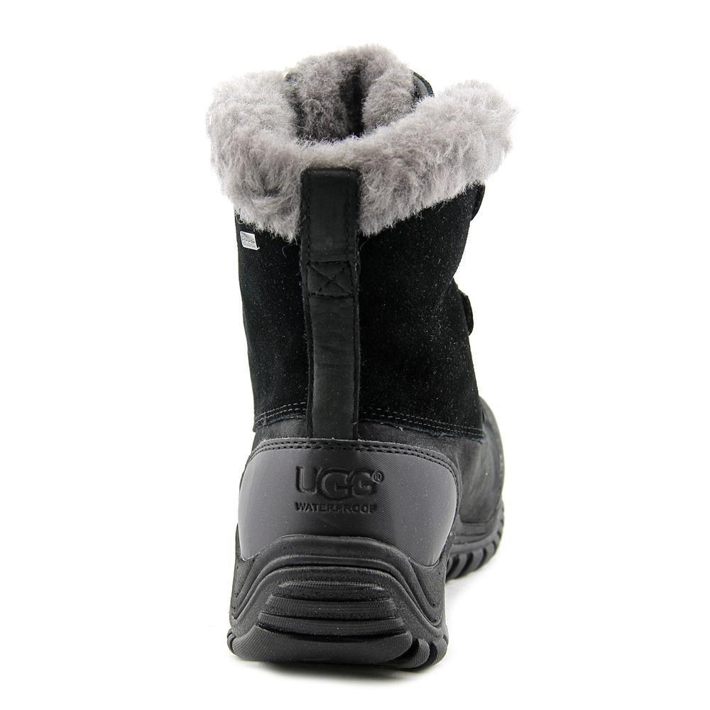 af894122571 Ugg Australia Ostrander Women Round Toe Leather Black Winter Boot