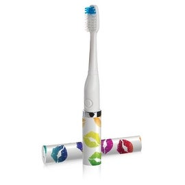 Violife Style Slim Sonic Electric Travel Toothbrush, Lipsmack White, 2.5 Ounce