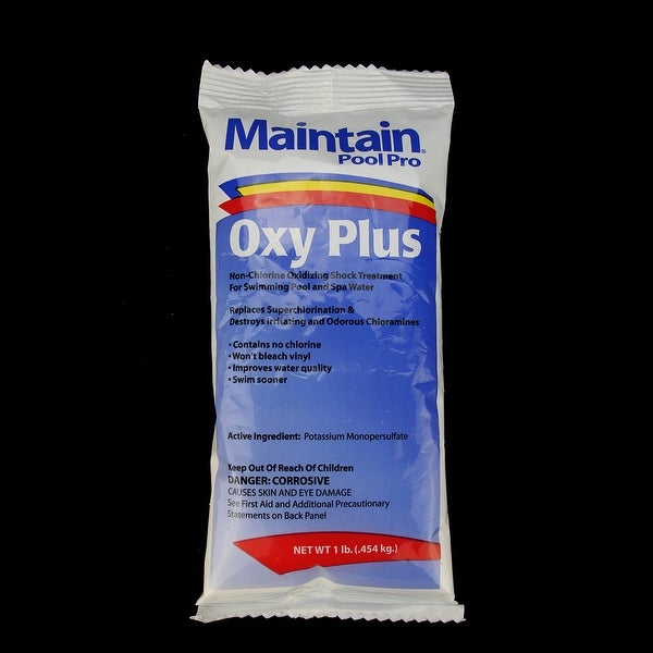 Maintain Pool Pro Oxy Plus Chlorine Free Oxidizing Shock Treatment 1lb