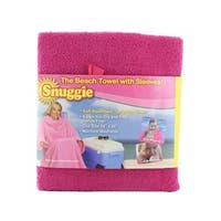 Snuggie Terrycloth Beach Towel in Pink
