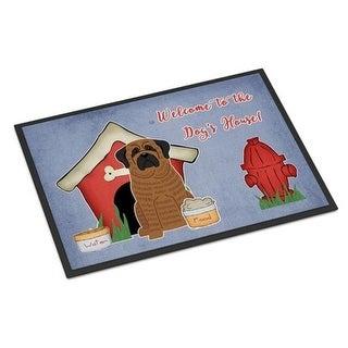 Carolines Treasures BB2769JMAT Dog House Collection Mastiff Brindle Indoor or Outdoor Mat 24 x 0.25 x 36 in.