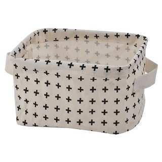 Household Desktop Fabric Makeup Sundries Storage Box Basket Closet Bin Container