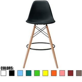 Shop Retro 26 Inch Counter Bar Stool With Oak Wooden Base