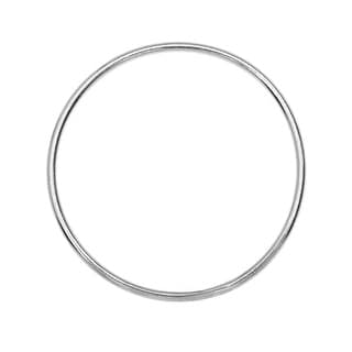Round Link Component, Closed 18 Gauge Wire 25mm Diameter, 1 Piece, Sterling Silver
