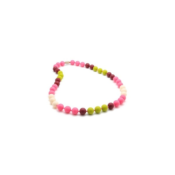 Chewbeads Bleecker Teething Necklace - Punchy Pink Bleecker Teething Necklace