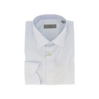 Canali Blue Stripe Formal Shirts