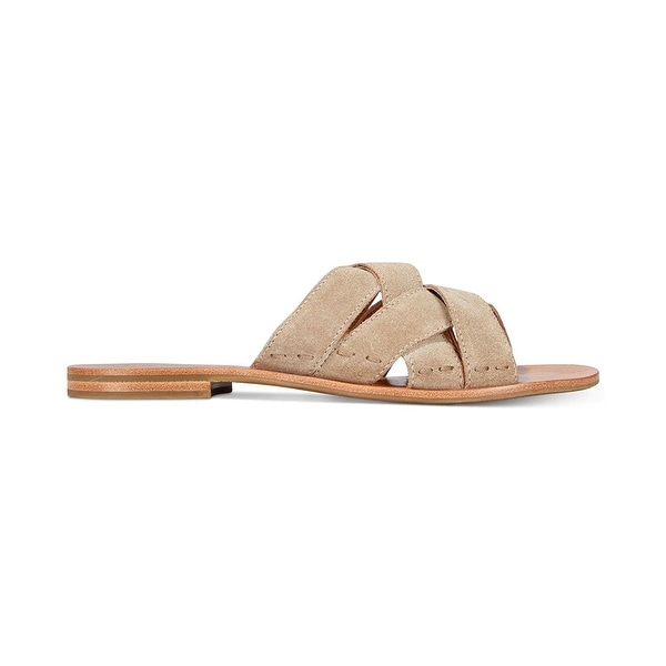 FRYE Womens Carla Criss Cross Open Toe Casual Slide Sandals