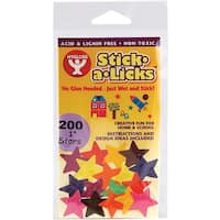 "Stick-A-Licks 200/Pkg-Stars 1"""