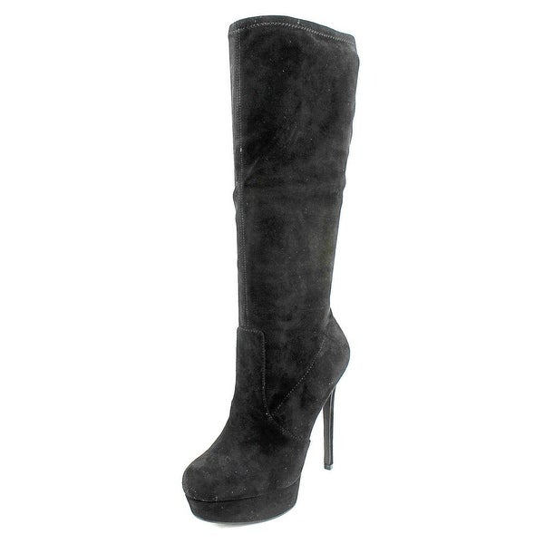 Jessica Simpson Serelli Women Round Toe Canvas Black Mid Calf Boot