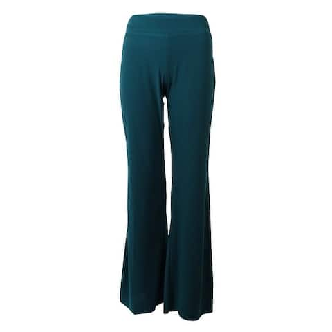 MSK Women's Solid Stretchy Elastic Waist Jersey Palazzo Pants