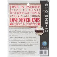 "Love Is Patient Mini Counted Cross Stitch Kit-7""X5"" 14 Count"