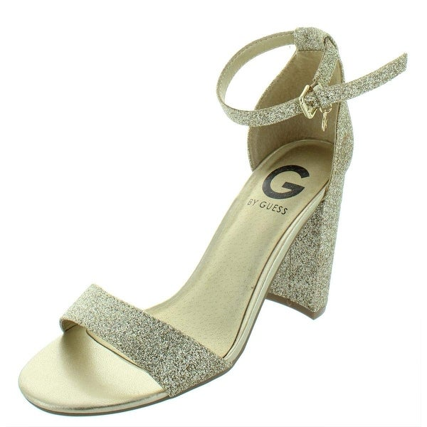 c8d17daede2 G by Guess Womens Shantel3 Open Toe Special Occasion Ankle Strap Sandals