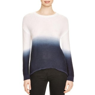 Aqua Womens Crewneck Sweater Cut-Out Back Ombre